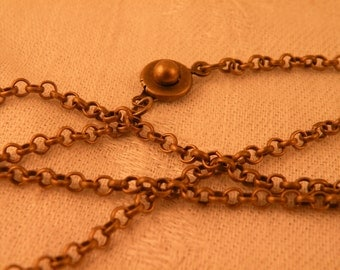 Antiqued Brass Rolo Chain Blank 24""