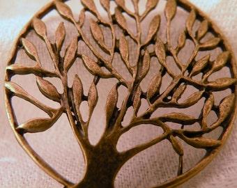 Tree of Life Antiqued Brass Pendant