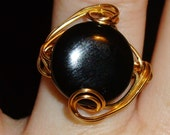Gold and Black ring.. size 7