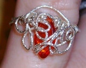Red Cz Marquise Cut Glitter size 4