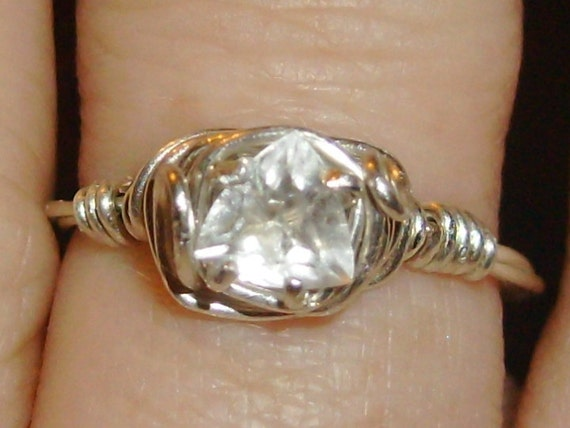 Trillion Quartz Ring Size 5