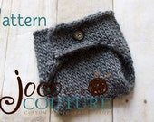 Pattern : JoCo Couture Knitted Hiney Cover - Newborn