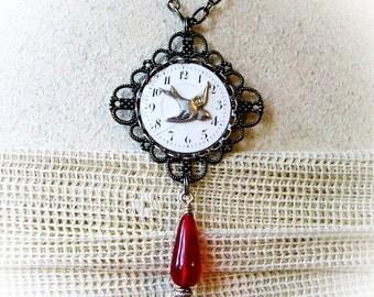 Steampunk Necklace Steampunk Jewelry Steampunk Watch Face