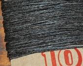 10 yards DARK CHOCOLATE BROWN waxed Irish linen thread