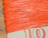 10 yards ORANGE waxed Irish linen thread