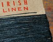 25 yards of BLACK waxed Irish linen thread