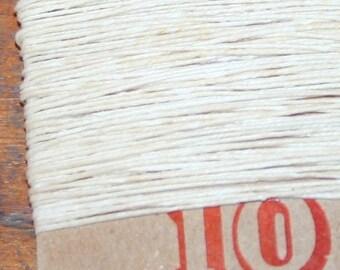 10 yards NATURAL waxed Irish linen thread