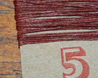 5 yards RUST waxed Irish Linen thread
