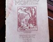 Vintage February 1928 California Monthly Magazine-University of California