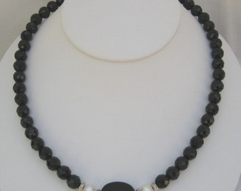 Black Onyx Necklace (N63)