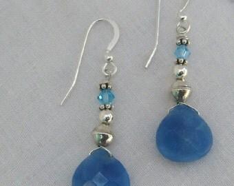 Blue Quartz Earrings (E14)