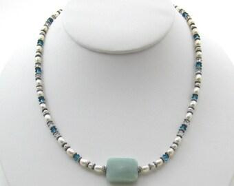 Amazonite Stone Necklace (N89)