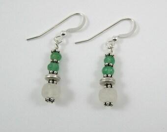 Moonstone and Adventurine Earrings (E59)