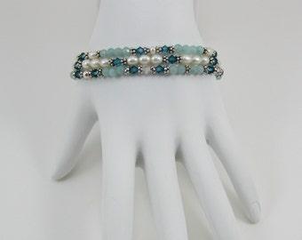 Amazonite Stretch Bracelet Set (B151)
