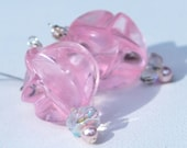 Repurposed Vintage Pink Lucite Earrings