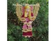 crochet angel pattern ornament or decoration, guardian angel home decor DIY