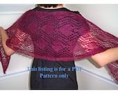 knit wrap pattern - pretty in hearts