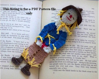 scarecrow of oz crochet pattern PDF file, thread crochet instructions, wizard of oz bookmark or decoration DIY