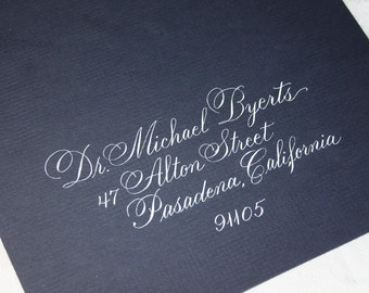 Calligraphy Wedding Envelope Addressing by Hand, CITADEL SCRIPT, Dip Pen and Ink