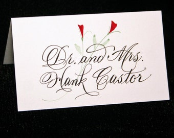 Place Card Calligraphy for your Wedding or Event, Calligraphy by hand