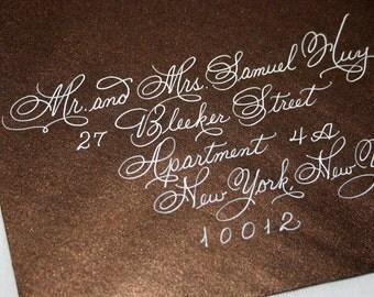 Discount Calligraphy Envelope Addressing Flourished Spencerian Wedding Special