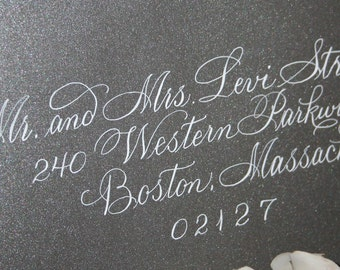 Calligraphy Wedding Envelope Addressing, Splendid Script by Hand, Dip Pen and Ink