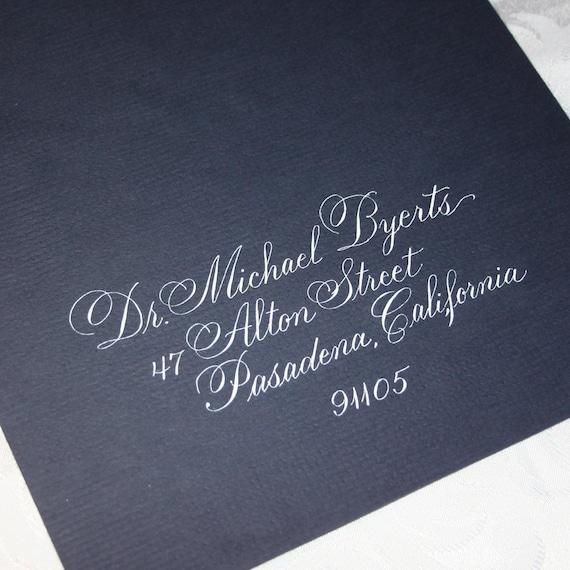 Calligraphy Wedding Envelope Addressing by Hand CITADEL SCRIPT Dip Pen and Ink