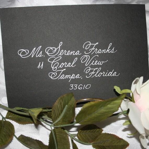 Wedding Calligraphy Envelope Addressing, DISOUNT WEDDING SPECIAL, Citadel Script