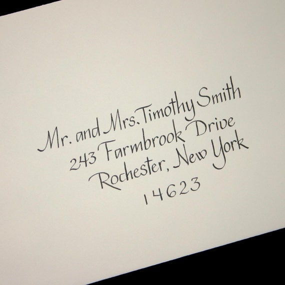 Calligraphy Envelope Addressing Service, Wedding Calligraphy, Simple Text