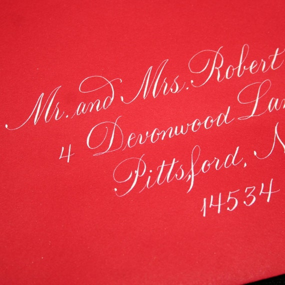 Calligraphy Envelope Addressing, Copperplate, Wedding Calligraphy by Hand, Engraver's Script