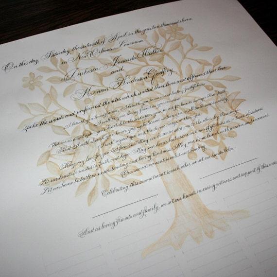 Wedding Certificate Personalized Marriage Scroll Deposit