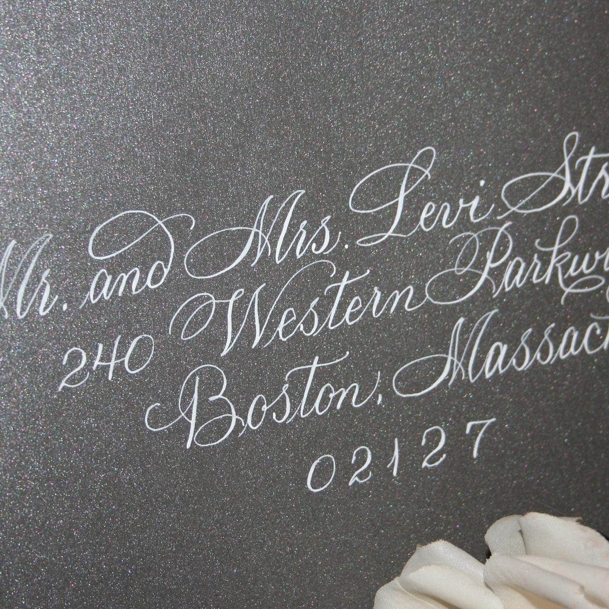 Calligraphy Wedding Envelope Addressing Splendid Script By