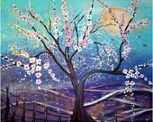 ART SALE---RAINING FLOWERS PRINT from Original Painting Limited Edition by LuizaVizoli