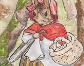 Beatrix Potter, Mrs. Rabbit, ACEO Print