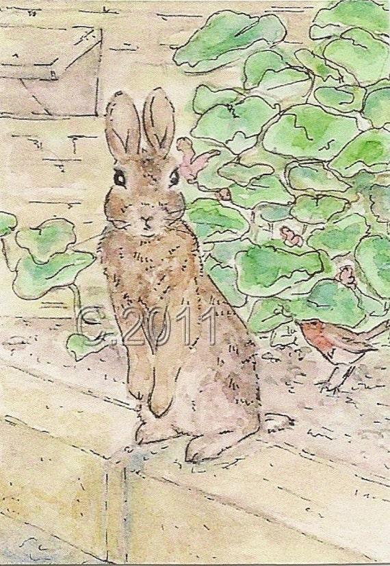 Peter Rabbit, ACEO Print