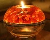 SALE-Orange Gerber Daisy Candle Holder