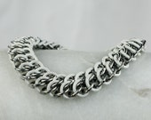 Stretchy Bracelet - Chainmaille - White