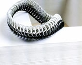 Black and White - Chainmaille Bracelet