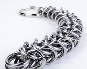 Chainmaille Keychain - Thick Flat Box Chain Pattern
