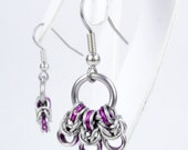 Purple Byzantine - Chainmaille Earrings