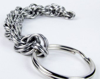 Chainmaille Keychain - King Spiral Pattern