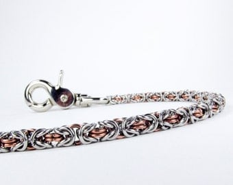 Byzantine Chainmaille Wallet Chain - Copper, Stainless Steel