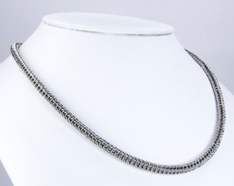 Chainmaille Necklace - Micro Maille  - Box Chain Pattern