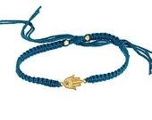 Gold Hamsa Hand of Fatima Bracelet