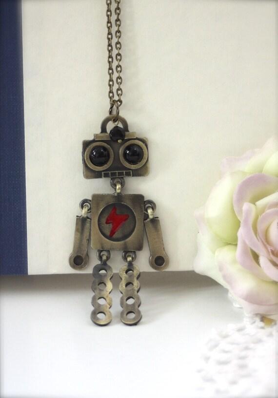 A Robots Dance... A Cute Three Dimensional Robot Necklace