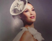 Saucer Hat with Lace and ribbon bow