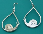 Snail Teardrop Earrings