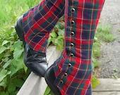 Plaid Tall Spats - Standard or Custom Size