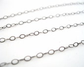 Oxidized Sterling Silver Cable Chain - 10 feet