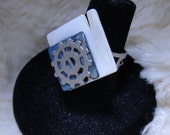 Abstract Steampunk Ring in Gunmetal